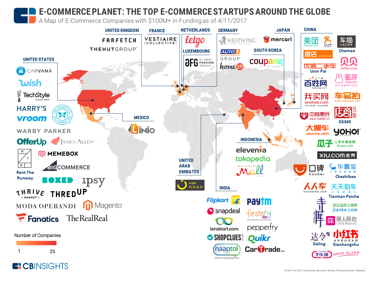 Mapa global de Ecommerce