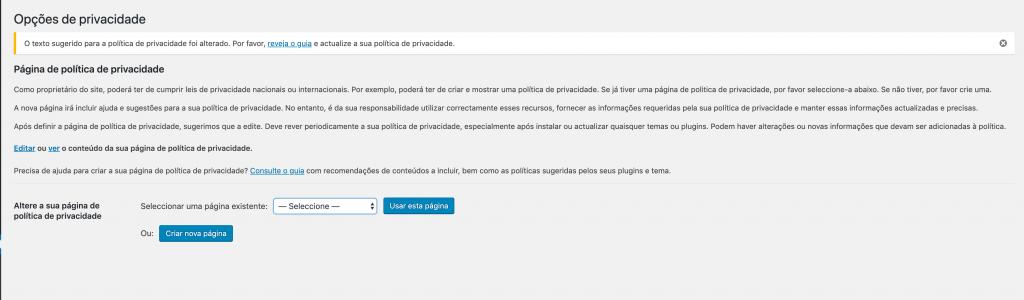 politica de privacidade RGPD
